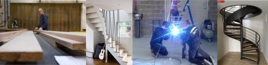 atelier soudure menuiserie escalier bois métal