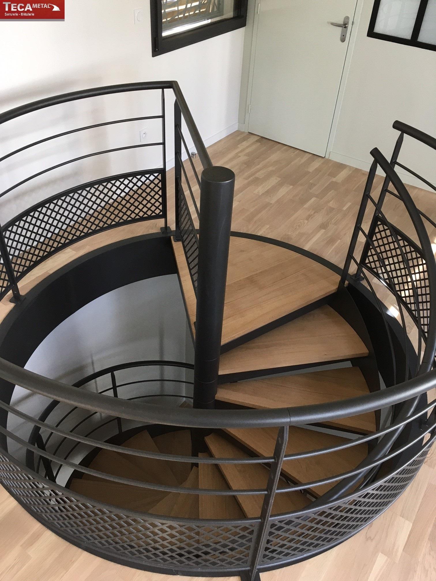 """Escalier Hélicoïdal modèle """"le Sublime"""" - TECAMETAL"""